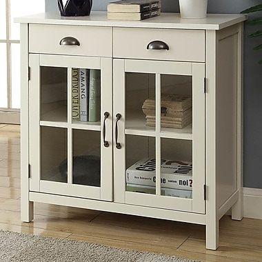 Alcott Hill Dillsboro Wood 2 Door Accent Cabinet; White