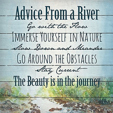 Loon Peak 'Advice from A River' Textual Art on Wood