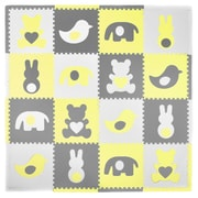 Tadpoles Elephants w/ Hearts 16 Piece Floor Mat