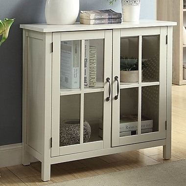 Alcott Hill Digby Wood 2 Door Accent Cabinet; White