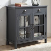 Alcott Hill Dillsboro Wood 2 Door Accent Cabinet; Gray