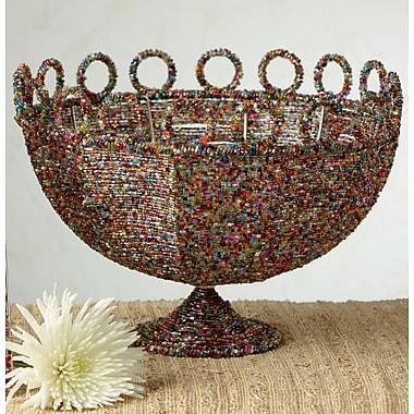 Bloomsbury Market Adelita Round Brown Beaded Decorative Basket