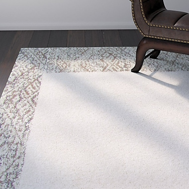 Bloomsbury Market Ansell Ivory/Brown Area Rug; 5'3'' x 7'6''