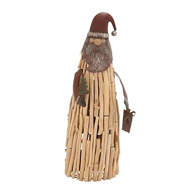 Cole & Grey Driftwood Metal Santa