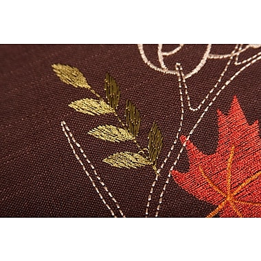 Red Barrel Studio Dresden Branches Embroidered Fall Round Placemat (Set of 4)