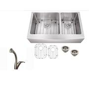 Soleil 33'' x 21'' Stainless Steel Double Basin Undermount Kitchen Sink w/ Faucet
