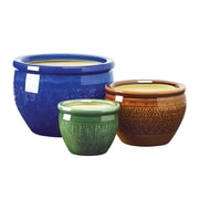 World Menagerie Adah 3-Piece Ceramic Pot Planter Set