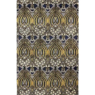 World Menagerie Demarcus Hand-Tufted Grey Area Rug; 7'9'' x 9'9''
