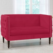 World Menagerie Lyric Chesterfield Settee; Sangria