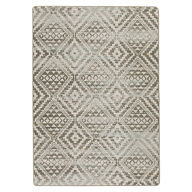 Bungalow Rose Tate Riverbed Beige Area Rug; 3'10'' x 5'4''