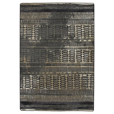 Bungalow Rose Tate Mudcloth Black Area Rug; 7'8'' x 10'9''