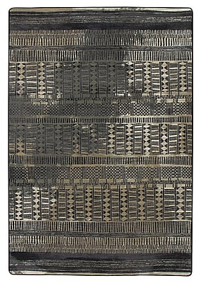 Bungalow Rose Tate Mudcloth Black Area Rug; 5'4'' x 7'8''