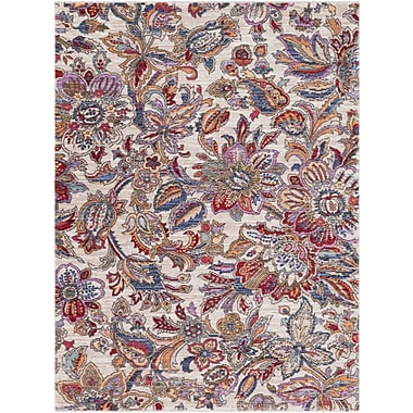 Bungalow Rose Turner Modern Floral Cream/Red Area Rug; 7'10'' x 10'3''