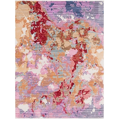Bungalow Rose Turner Modern Abstract Pink Area Rug; 5'3'' x 7'3''
