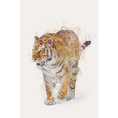 East Urban Home 'The Tiger' Vertical Graphic Art on Wrapped Canvas; 26'' H x 18'' W x 1.5'' D