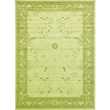 World Menagerie Lisbon Light Green Area Rug; 13' x 18'