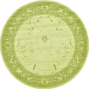 World Menagerie Lisbon Light Green Area Rug; Round 12'2''