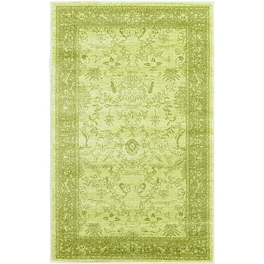 World Menagerie Lisbon Light Green Area Rug; 3'3'' x 5'3''