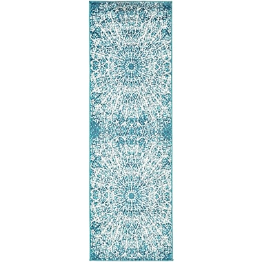 World Menagerie Keswick Turquoise Area Rug; 2' x 6'7''