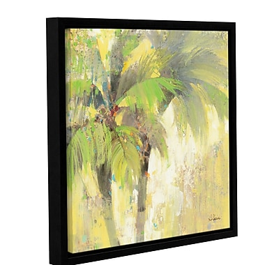 Bay Isle Home Breezy Palm I by Albena Hristova Framed Painting Print ; 18'' H x 18'' W x 2'' D