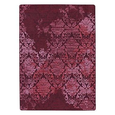 Bungalow Rose Tate Claret Purple Area Rug; 3'10'' x 5'4''