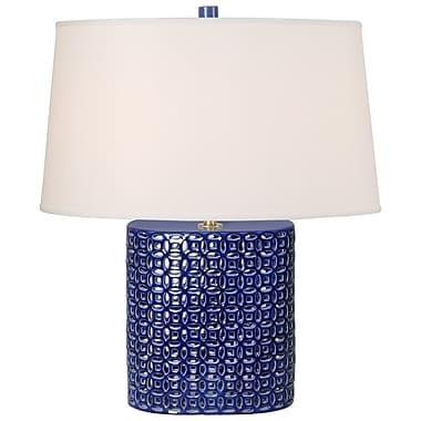 Bungalow Rose Sotelo 25'' Table Lamp; Blue