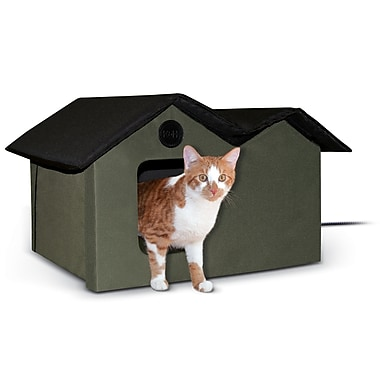 K&H Manufacturing Outdoor Heated Kitty House Extra-Wide