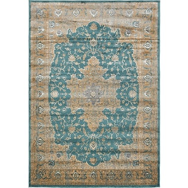 World Menagerie Essex Teal Area Rug; 7' x 10'