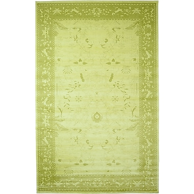 World Menagerie Lisbon Light Green Area Rug; 10'6'' x 16'5''