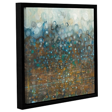 Brayden Studio 'Blue and Bronze Dots' by Danhui Nai Framed Painting Print; 18'' H x 18'' W x 2'' D
