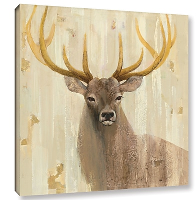 Loon Peak 'Forest King' by Albena Hristova Painting Print on Wrapped Canvas; 14'' H x 14'' W x 2'' D