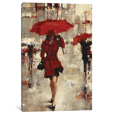 East Urban Home 'Paris Invitation' Framed Painting on Wrapped Canvas; 12'' H x 8'' W x 0.75'' D