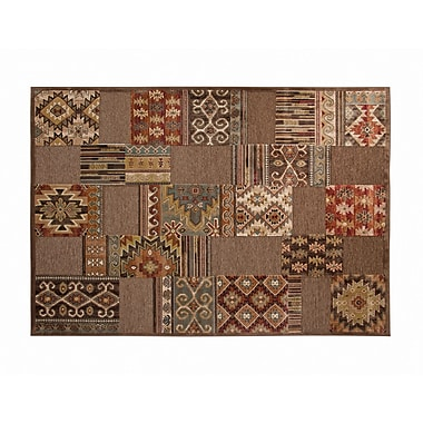 Bloomsbury Market Ancelina Brown/Ivory/Red/Chocolate Area Rug; 7'10'' x 11'2''