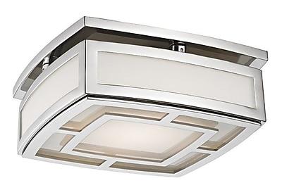 Bloomsbury Market Bretta 1-Light LED Flush Mount; Polished Nickel