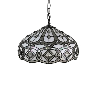 AmoraLighting Tiffany Style 2-Light Inverted Pendant