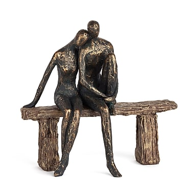 Bloomsbury Market Mahone Couple on Park Bench Resin Sculpture