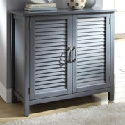 Alcott Hill Dixfield Wood 2 Door Accent Cabinet; Gray