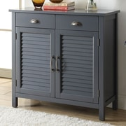 Alcott Hill Dobson Wood 2 Door Accent Cabinet; Gray