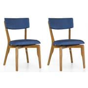 Corrigan Studio Amit Upholstered Dining Chair (Set of 2); Blue
