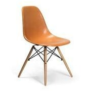 Brayden Studio Gerardi Dining Chair (Set of 2); Orange
