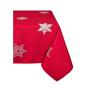 The Holiday Aisle Snowflake Embroidered Christmas Square Tablecloth