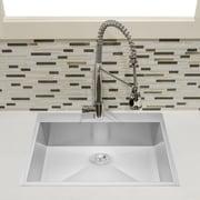 GoldenVantage 25'' x 22'' Top Mount Kitchen Sink w/ Dish Grid and Drain Strainer Kit