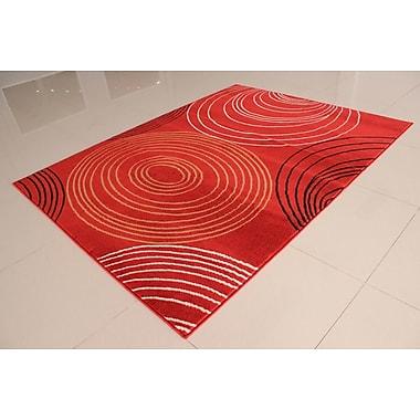 Ebern Designs Rensel Orange Area Rug; Runner 2' x 7'2''