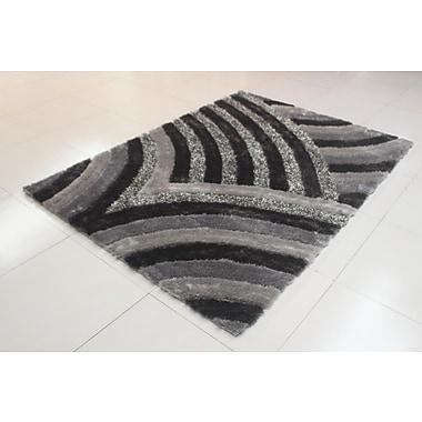 Orren Ellis Joshawn Wave Pattern Gray Area Rug; 7'11'' x 9'10''