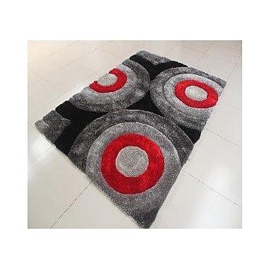 Orren Ellis Kishor Circle Black Area Rug; 7'11'' x 9'10''