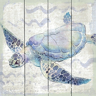Bay Isle Home 'A Turtle Sunday' Graphic Art Print on Wood