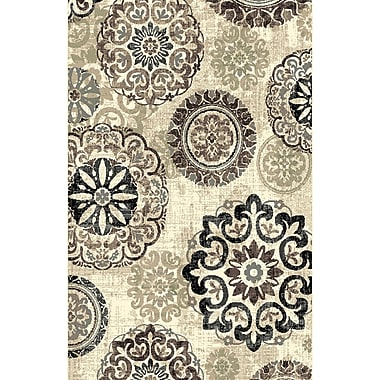 Bungalow Rose Mann Ivory Area Rug; 5'3'' x 7'2''