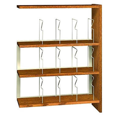 Ironwood Glacier Single Face Picture Adder 48'' Standard Bookcase; Dixie Oak