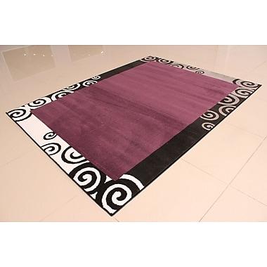 Ebern Designs Nikolov Purple Area Rug; 5'3'' x 7'2''