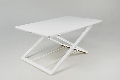 Ebern Designs Crocamo 17'' H x 32'' W Standing Desk Conversion Unit; White